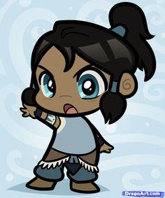 Chibi Korra, Legend of Korra, GAH too cute!