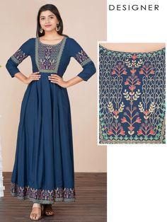 Kurti Sleeves Design, Sleeves Designs For Dresses, New Kurti Designs, Kurta Designs Women, Indian Fashion Dresses, Muslim Fashion, A Line Skirt Outfits, A Line Kurti, Design Page