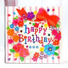 画像 : 手作り誕生日カードの作品例【バースデーカード、メッセージ ... : facebook、LINEなどSNSで使える 誕生日画像 - NAVER まとめ