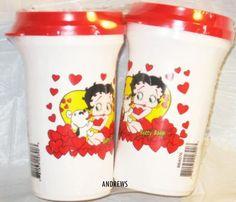 "Betty Boop Pudgy Ceramic Motorcycle Gas Tank Mug Vase 5.5/"" L"
