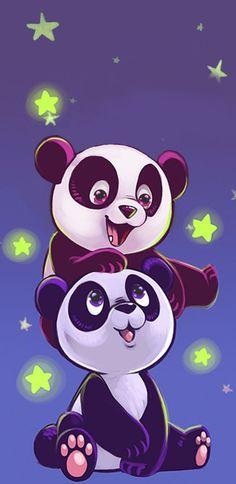 Pin by cheryl hallett on bears panda Wild Animals Drawing, Cute Wild Animals, Animal Drawings, Cute Drawings, Cute Panda Wallpaper, Bear Wallpaper, Wallpaper Iphone Cute, Cute Panda Drawing, Cute Panda Cartoon