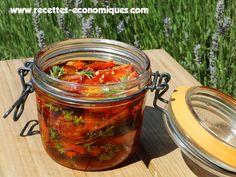 Recette des tomates séchées (confites) au micro ondes - recettes de cuisine avec Thermomix ou pas Salty Foods, Preserving Food, Preserves, Pickles, Salsa, Food And Drink, Veggies, Canning, Ethnic Recipes