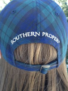 A fall & winter must have, Southern Proper plaid cap!