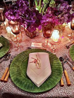 frank de biasi orchid dinner 2015 table placesetting via quintessenceblog.com. color inspiration.