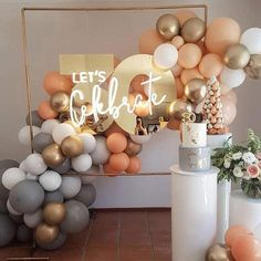 Orange Balloons, Pastel Balloons, Round Balloons, Confetti Balloons, Ballon Arch, Deco Ballon, Balloon Arch Diy, Ballon Backdrop, Balloon Shop