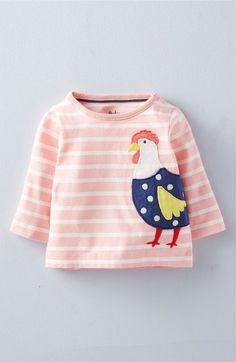 Mini Boden 'Farm Friends' Stripe Long Sleeve Tee (Baby Girls & Toddler Girls) available at #Nordstrom