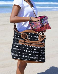 we're beach-ready with our favorite woven bags!