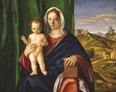 Giovanni Bellini, Madonna con il Bambino, 1509     olio su tavola, cm 84,8 x 106  Detroit Institute of Arts  acquisto della città di Detroit