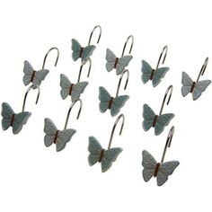 Butterfly Blessings Shower Curtain and Hook Set