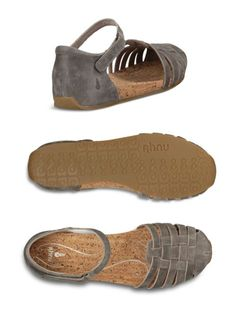 Ahhh. Ahnu(R) Malini Mary Janes fit your style---sandal-breezy, with closed toes & heels in softly weathered huarache-look leather. And they fit your arches perfectly---ergonomic footbeds are lined in cork, putting quite literally a spring in your step.