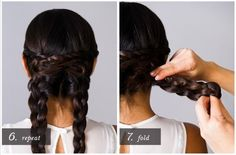 Today we show you how to style a braided chignon. Just follow the introduction.Step 1:  Step 2 & 3:  Step 4 & 5:  Step 6 & 7:  The last step and the..