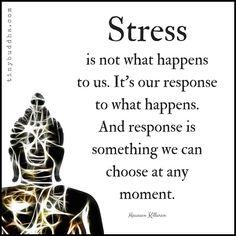 1,731 отметок «Нравится», 9 комментариев — Tiny Buddha (@tinybuddhaofficial) в Instagram: «Stress is not what happens to us. it's our response to what happens. And response is something we…»