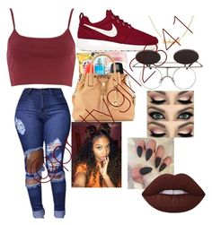 """Untitled #24"" by prettygirl2341 ❤ liked on Polyvore featuring NIKE and Lime Crime"