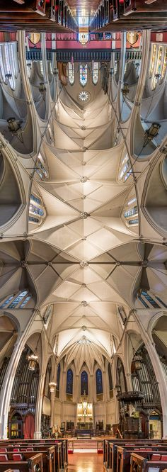 Vertical Panoramic Photographs of New York Churches by Richard Silver Calvary-Episcopal-Church