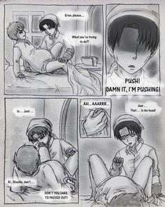 Shingeki no kyojin erenxlevi mpreg part 7 Ereri, Birth Manga, Mpreg Stories, Mpreg Anime, Captain Levi, Anime Family, Levi X Eren, Baby Birth, Anime Demon