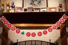 Merry Christmas Banner Holiday Garland Christmas Photobooth Prop Photo Booth Prop Merry Christmas Sign Holiday Decoration Christmas Sign