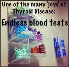 "I didn& know Thyroid Disease had ""joys "" but endless blood tests. Thyroid Issues, Thyroid Cancer, Thyroid Disease, Thyroid Problems, Thyroid Health, Autoimmune Disease, Hypothyroidism, Hashimotos Symptoms, Thyroid Symptoms"