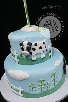 farm animal boy birthday cake