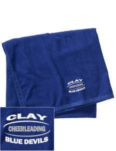 Clay High School Blue Devils Embroidered Beach Towel