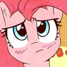 Size: 360x360 | Tagged: animated, artist:mirroredsea, blinking, bust, confused, earth pony, female, looking at something, looking up, open mouth, pinkie pie, pony, portrait, redraw, safe, solo