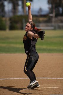 high school softball pitcher