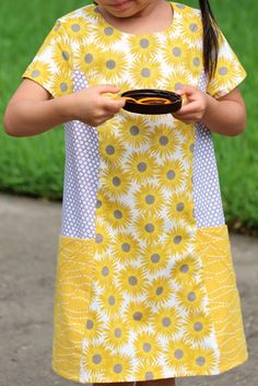 Peaches and Bees: Sunshine Ishi Dress for Little Momo