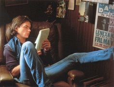 River Phoenix reading. He just seemed so real, very down to earth.