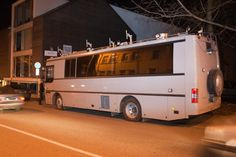 The forensics bus of the central criminal police of Estonia parked outside Rove Digital offices on the  9th of November, 2011.