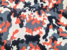 Boys Orange CAMO Army Printed Camouflage by TheFabricShopUK