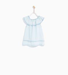ZARA - KIDS - FRILLED DENIM DRESS