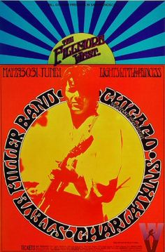 Classic rock concert psychedelic poster - Steve Miller Band Poster, Fillmore West (San Francisco, CA) May 29, 1969