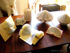 Folded book art Book paper Sculpture altered by MalenaValcarcel