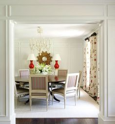 Meadow View - Tobi Fairley Interior Design #red #floral #Dining