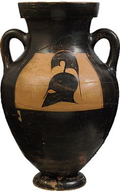 Attic black-figure amphora. From Faliro, Attica. 575-550 B.C.
