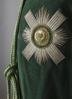 Order of the Thistle - Robes ans Star that dates back the 18th century, part of the costume collection at Ham House, Surrey.