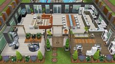First floor front view of the Moore family home - in my Sims Freeplay