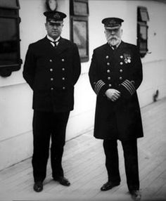 Chief Purser Herbert McElroy with Captain Smith