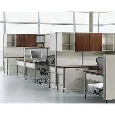 Product Images - Herman Miller Canvas with overhead storage and Aeron chairs