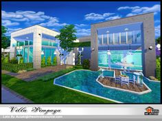 Pimponpan Modern. Found in TSR Category 'Sims 4 Residential Lots'