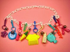 Remember these? My chain was red and I had all sorts of awesome charms ranging from a banana to a pair of roller skates. LOVE!