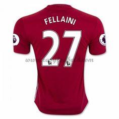 Fodboldtrøjer Premier League Manchester United 2016-17 Fellaini 27 Hjemmetrøje