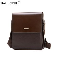 9bc599822831 Fashion PU Vintage Men s Crossbody Bag Casual Business Leather Mens  Messenger Bag Quality Travel Shoulder Bag