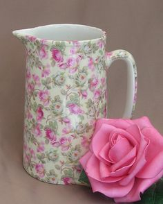 Chintzy pink jug