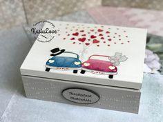 NIEZBĘDNIK MAŁŻEŃSKI kapitalny pomysł na prezent na ślub Painted Boxes, Wooden Boxes, Personalised Wooden Box, Decoration, Scrap Books, Cricut, Decoupage Ideas, Valentines, Crafty