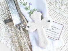 Christian Cross Salt Dough Baptism or Communion Favor / Gift – Cookie Dough Creations
