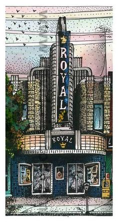 Royal Cinema recreated by art Illustrator David Crighton