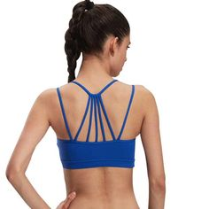 Very in style at the moment... these tops give great support and the way the straps are positioned they are super comfortable.  If you are going to workout - at least look and feel good!    https://zenyogahub.com/collections/yoga-bras/products/back-strap-sports-bra