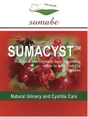 Sumabe Sumacyst Cranberry Extract 17,000mg - Natural urinary and cystitis care, 60 Capsules