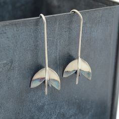 Four leaf sterling silver earrings perfect for every day wear