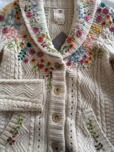 ANTHROPOLOGIE-Rose-Is-A-Rose-Cardigan-Sweater-S-SP-petite-NWT-198-RARE